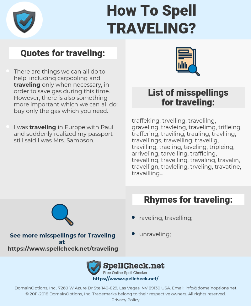 traveling, spellcheck traveling, how to spell traveling, how do you spell traveling, correct spelling for traveling