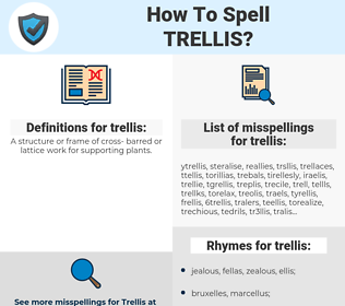 trellis, spellcheck trellis, how to spell trellis, how do you spell trellis, correct spelling for trellis