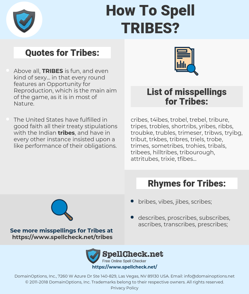 Tribes, spellcheck Tribes, how to spell Tribes, how do you spell Tribes, correct spelling for Tribes