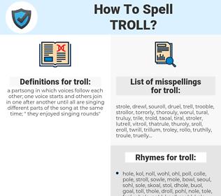 troll, spellcheck troll, how to spell troll, how do you spell troll, correct spelling for troll