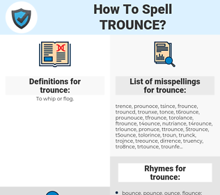 trounce, spellcheck trounce, how to spell trounce, how do you spell trounce, correct spelling for trounce