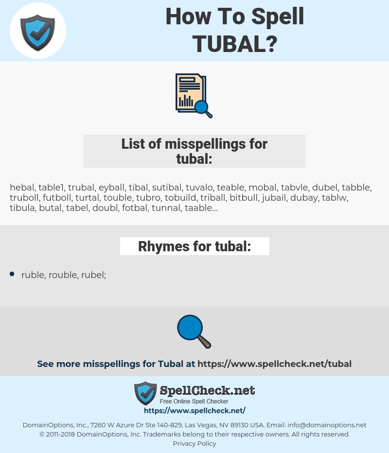 tubal, spellcheck tubal, how to spell tubal, how do you spell tubal, correct spelling for tubal