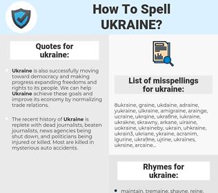 ukraine, spellcheck ukraine, how to spell ukraine, how do you spell ukraine, correct spelling for ukraine
