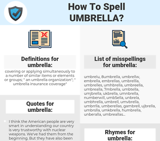 umbrella, spellcheck umbrella, how to spell umbrella, how do you spell umbrella, correct spelling for umbrella