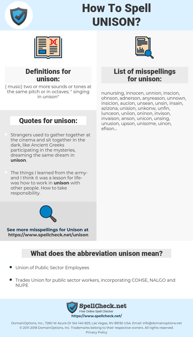 unison, spellcheck unison, how to spell unison, how do you spell unison, correct spelling for unison