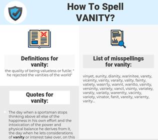 vanity, spellcheck vanity, how to spell vanity, how do you spell vanity, correct spelling for vanity
