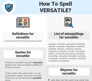 versatile, spellcheck versatile, how to spell versatile, how do you spell versatile, correct spelling for versatile