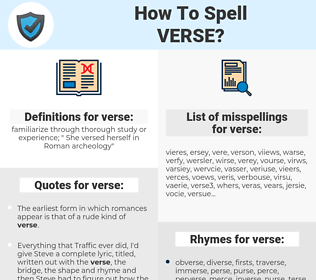 verse, spellcheck verse, how to spell verse, how do you spell verse, correct spelling for verse
