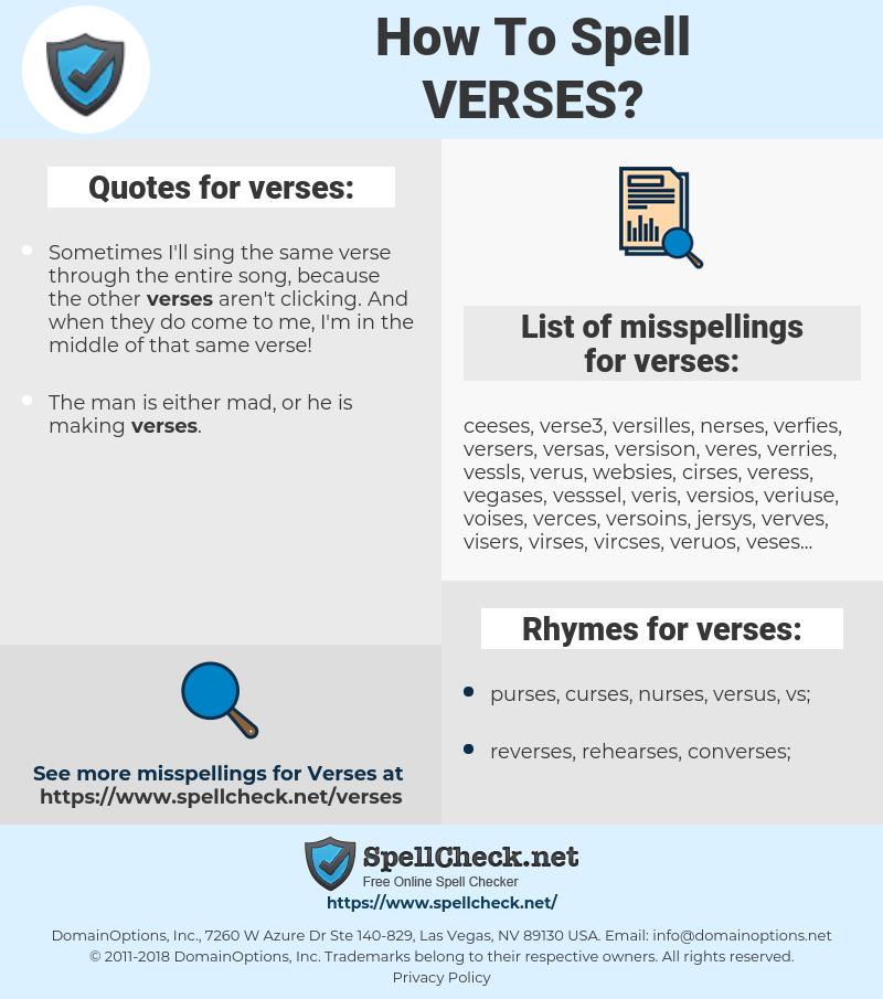 verses, spellcheck verses, how to spell verses, how do you spell verses, correct spelling for verses
