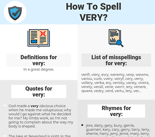 very, spellcheck very, how to spell very, how do you spell very, correct spelling for very