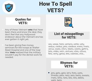 VETS, spellcheck VETS, how to spell VETS, how do you spell VETS, correct spelling for VETS