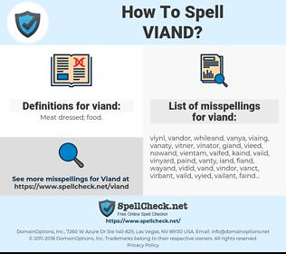 viand, spellcheck viand, how to spell viand, how do you spell viand, correct spelling for viand