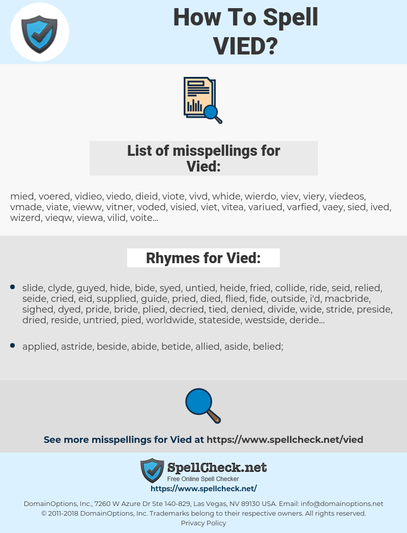 Vied, spellcheck Vied, how to spell Vied, how do you spell Vied, correct spelling for Vied