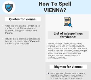 vienna, spellcheck vienna, how to spell vienna, how do you spell vienna, correct spelling for vienna