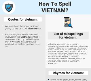vietnam, spellcheck vietnam, how to spell vietnam, how do you spell vietnam, correct spelling for vietnam