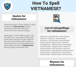 vietnamese, spellcheck vietnamese, how to spell vietnamese, how do you spell vietnamese, correct spelling for vietnamese