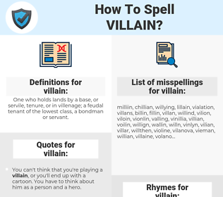 How To Spell Villain And How To Misspell It Too Spellcheck Net