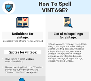 vintage, spellcheck vintage, how to spell vintage, how do you spell vintage, correct spelling for vintage