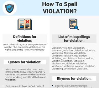 violation, spellcheck violation, how to spell violation, how do you spell violation, correct spelling for violation