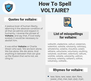 voltaire, spellcheck voltaire, how to spell voltaire, how do you spell voltaire, correct spelling for voltaire