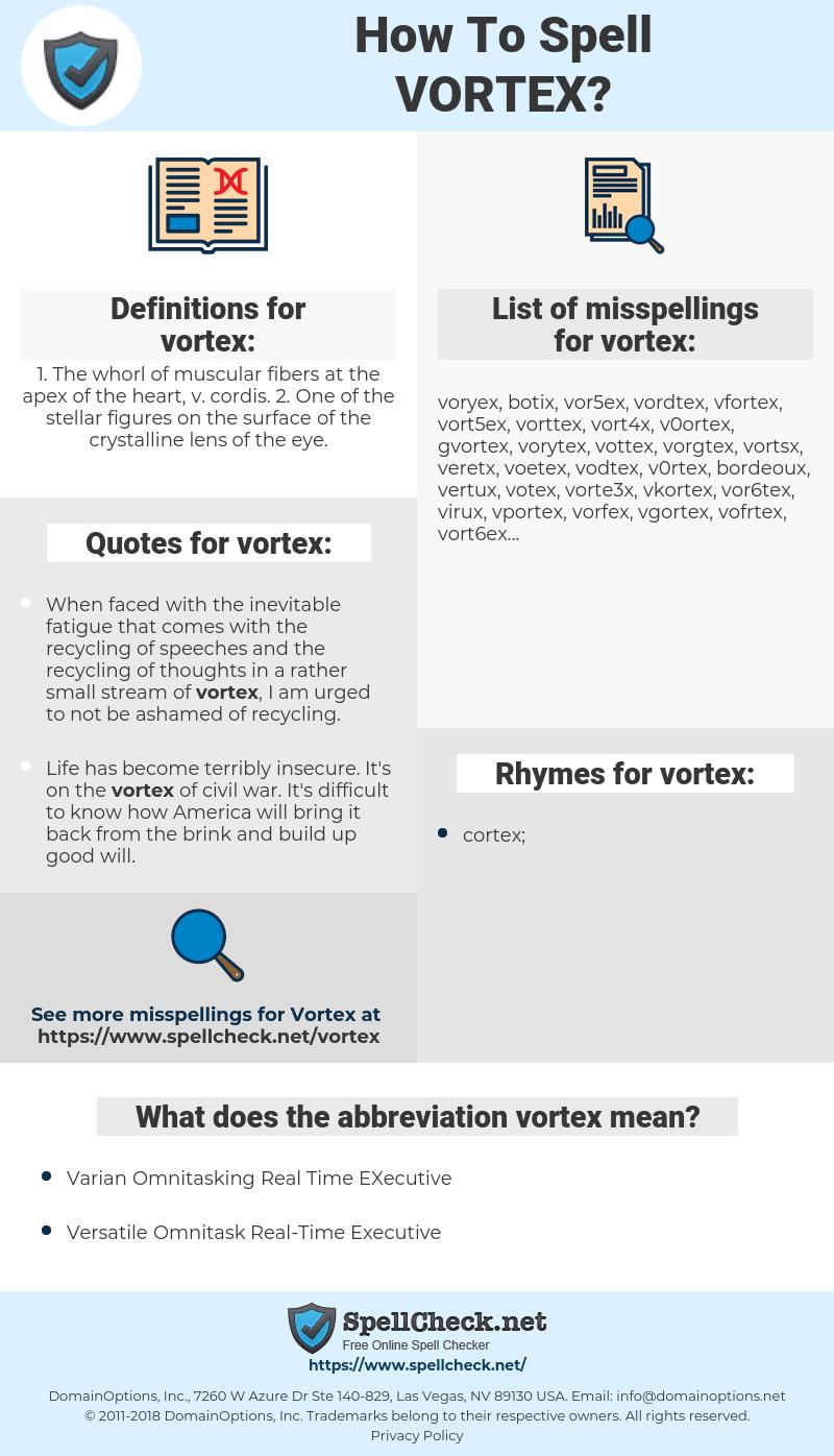 vortex, spellcheck vortex, how to spell vortex, how do you spell vortex, correct spelling for vortex