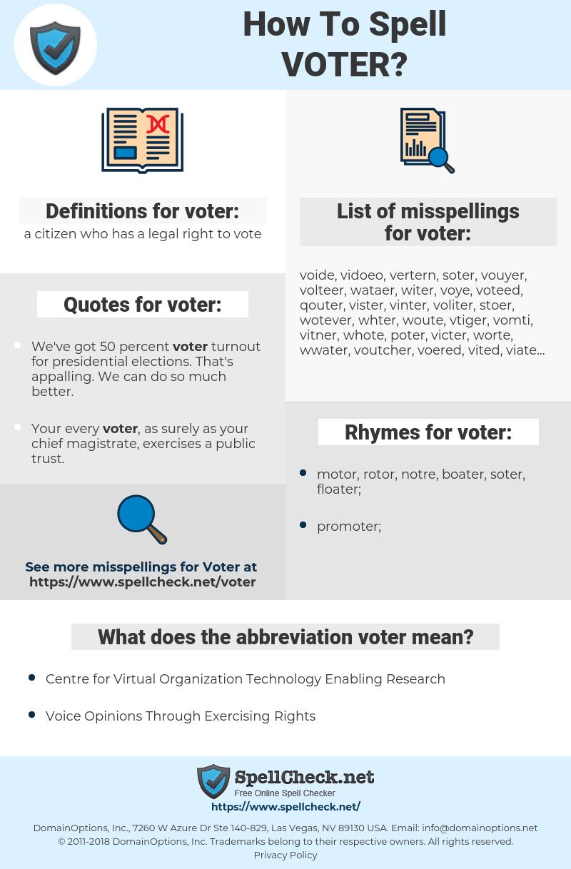 voter, spellcheck voter, how to spell voter, how do you spell voter, correct spelling for voter