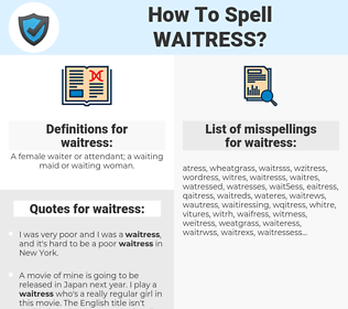 How To Spell Waitress (And How To Misspell It Too