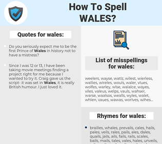 wales, spellcheck wales, how to spell wales, how do you spell wales, correct spelling for wales