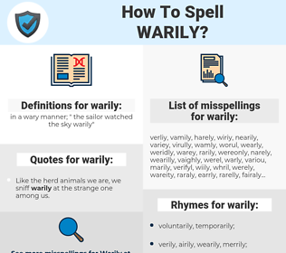warily, spellcheck warily, how to spell warily, how do you spell warily, correct spelling for warily