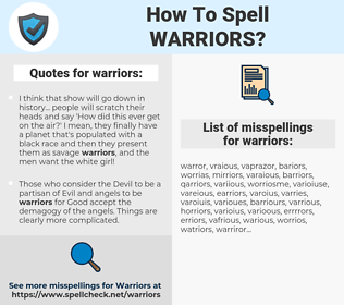 warriors, spellcheck warriors, how to spell warriors, how do you spell warriors, correct spelling for warriors