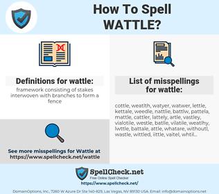 wattle, spellcheck wattle, how to spell wattle, how do you spell wattle, correct spelling for wattle
