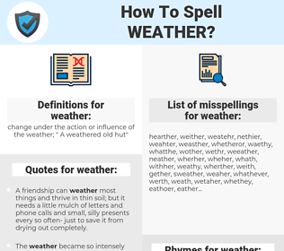 weather, spellcheck weather, how to spell weather, how do you spell weather, correct spelling for weather