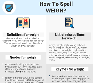 weigh, spellcheck weigh, how to spell weigh, how do you spell weigh, correct spelling for weigh