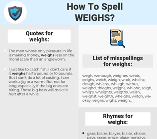 weighs, spellcheck weighs, how to spell weighs, how do you spell weighs, correct spelling for weighs