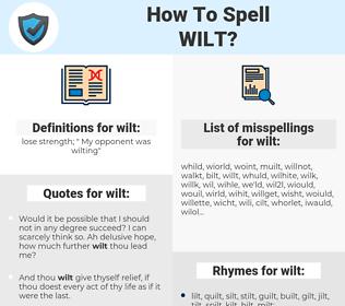 wilt, spellcheck wilt, how to spell wilt, how do you spell wilt, correct spelling for wilt