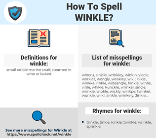 winkle, spellcheck winkle, how to spell winkle, how do you spell winkle, correct spelling for winkle