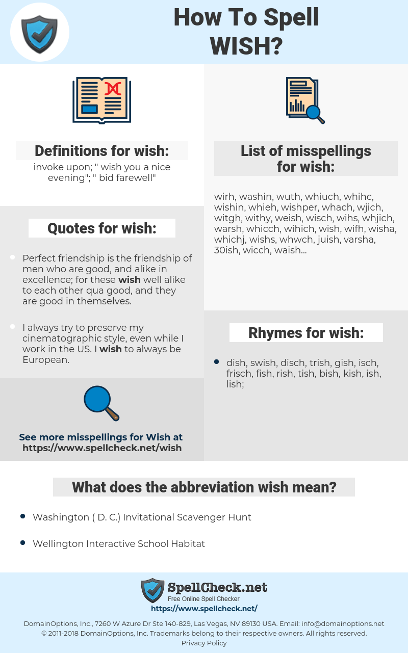 wish, spellcheck wish, how to spell wish, how do you spell wish, correct spelling for wish
