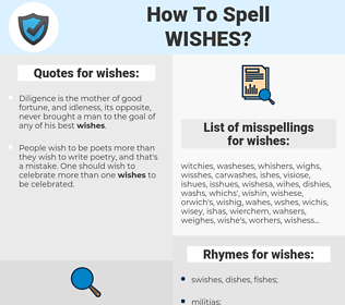 wishes, spellcheck wishes, how to spell wishes, how do you spell wishes, correct spelling for wishes