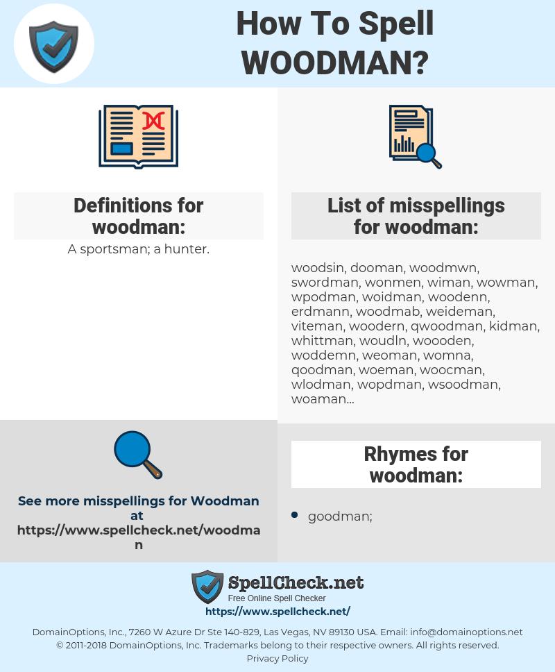 woodman, spellcheck woodman, how to spell woodman, how do you spell woodman, correct spelling for woodman