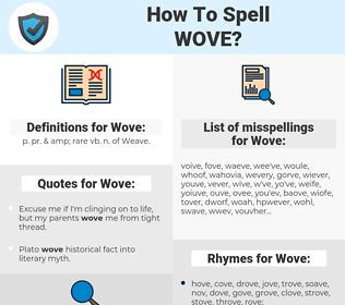 Wove, spellcheck Wove, how to spell Wove, how do you spell Wove, correct spelling for Wove