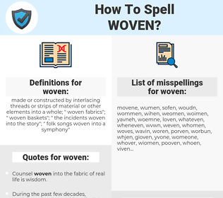 woven, spellcheck woven, how to spell woven, how do you spell woven, correct spelling for woven