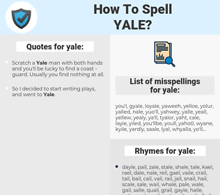yale, spellcheck yale, how to spell yale, how do you spell yale, correct spelling for yale