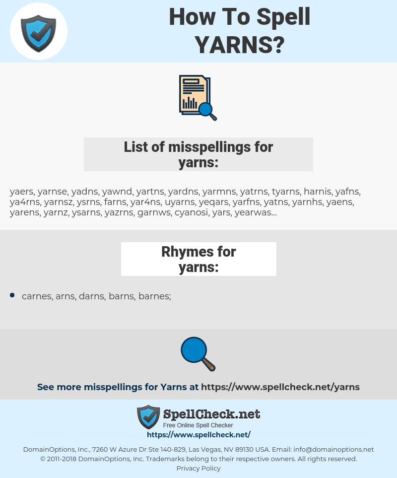 yarns, spellcheck yarns, how to spell yarns, how do you spell yarns, correct spelling for yarns