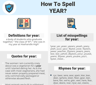year, spellcheck year, how to spell year, how do you spell year, correct spelling for year