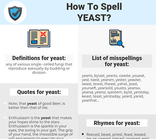 yeast, spellcheck yeast, how to spell yeast, how do you spell yeast, correct spelling for yeast