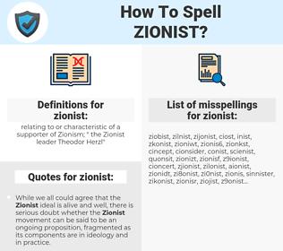 zionist, spellcheck zionist, how to spell zionist, how do you spell zionist, correct spelling for zionist