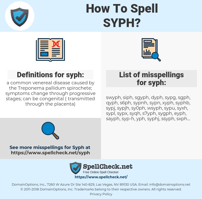 syph, spellcheck syph, how to spell syph, how do you spell syph, correct spelling for syph