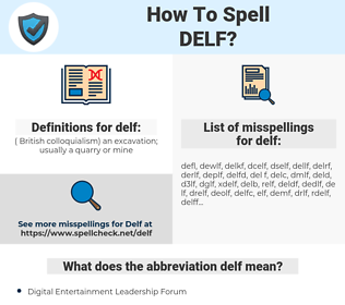 delf, spellcheck delf, how to spell delf, how do you spell delf, correct spelling for delf
