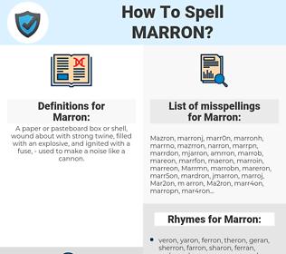 Marron, spellcheck Marron, how to spell Marron, how do you spell Marron, correct spelling for Marron