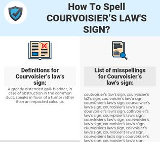 Courvoisier's law's sign, spellcheck Courvoisier's law's sign, how to spell Courvoisier's law's sign, how do you spell Courvoisier's law's sign, correct spelling for Courvoisier's law's sign